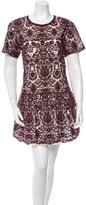 Sea Embroidered Mini Dress