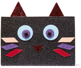 Karl Lagerfeld Choupette Glittered Acrylic Clutch - Black