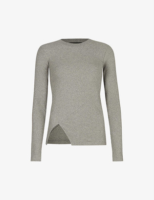 AllSaints Gia long-sleeve ribbed cotton top