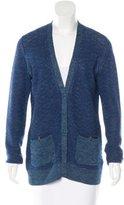 Proenza Schouler Linen-Blend Long Sleeve Cardigan