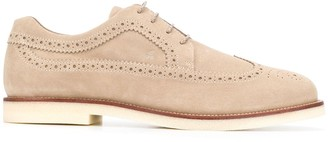 Hogan Lace-Up Rubber-Sole Brogues