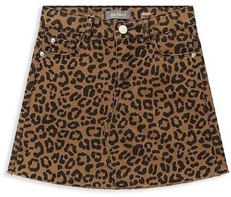 DL1961 Girl's Jenny Jaguar-Print Mini Skirt