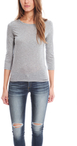 J Brand Sophie Tee Heather Grey