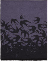 McQ Purple Swallow Dégradé Scarf