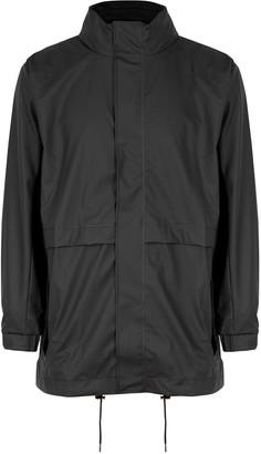 Rains Matte Black Rubberised Raincoat