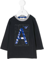 Armani Junior A logo print top