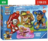 Ravensburger PAW Patrol Floor 4 Shaped Jigsaw Puzzles