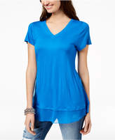 INC International Concepts I.n.c. Layered-Look Mesh-Hem Tunic, Created for Macy's