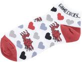For Bare Feet Women's South Carolina Gamecocks Heart Logo Repeat Socks