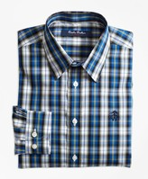 Brooks Brothers Non-Iron Bold Plaid Sport Shirt