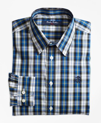 Brooks Brothers Boys Non-Iron Bold Plaid Sport Shirt