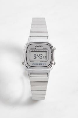 Casio LA670WA Classic Silver Watch - Silver ALL at Urban Outfitters