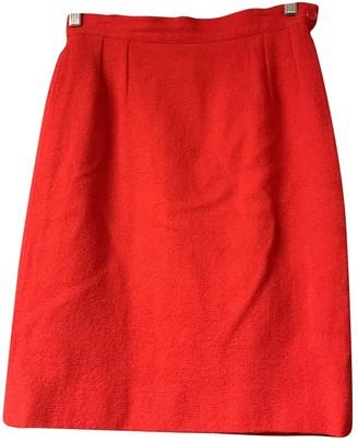 Saint Laurent Red Cotton Skirt for Women Vintage