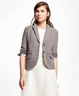 Brooks Brothers Wool Blend Gingham Jacket
