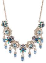 Marchesa Goldtone White Metal Floral Necklace