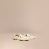 Burberry Tasselled Grainy Leather Loafers