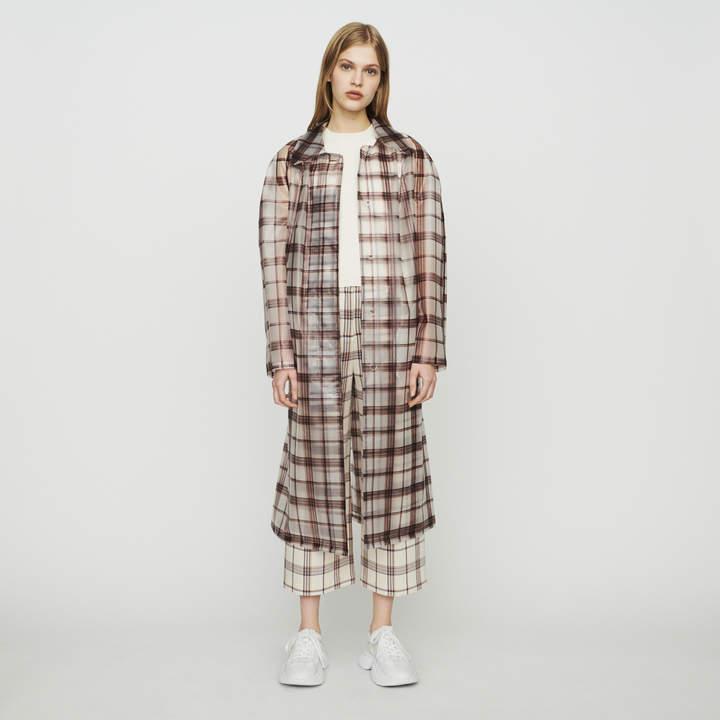 Maje Transparent checkered windproof jacket