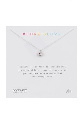 Dogeared Sterling Silver Love Is Love Sphere Necklace