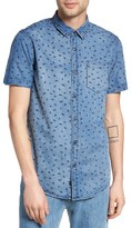 Globe Men's Dion Piper Print Denim Shirt