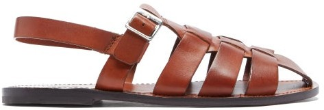 Grenson Quincy Leather Sandals - Tan