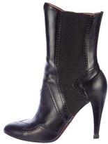 Alaia Leather Brogue Boots