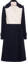Diane von Furstenberg Kayden Two-Tone Wool-Blend Bouclé Coat
