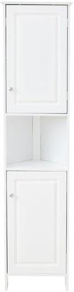 Lloyd Pascal Devonshire Tall Corner Bathroom Cabinet - White
