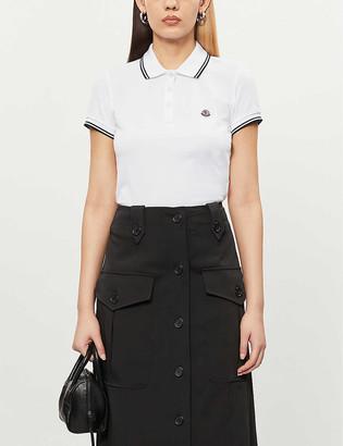 Moncler Logo-embroidered cotton-pique polo shirt