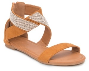 OLIVIA MILLER Labelle Multi Rhinestone Strap Sandals Women's Shoes