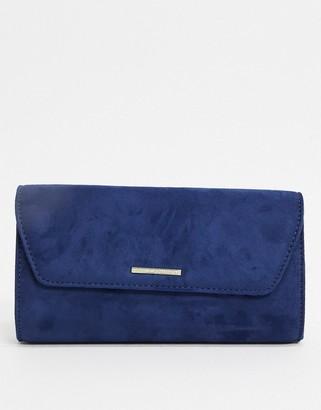 Lipsy envelope clutch bag in navy