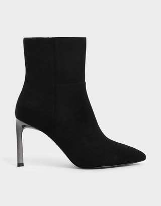 Charles & Keith Side Zip Stiletto Ankle Boots