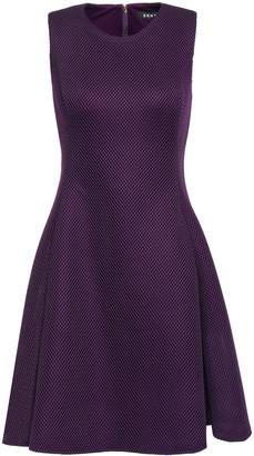 DKNY Flared Mesh And Scuba-paneled Mini Dress
