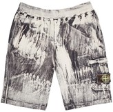 Stone Island Corrosion Distressed Cotton Shorts