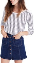 Madewell Women's Whisper Cotton Stripe Long Sleeve Tee