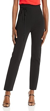 Cushnie High Waisted Fitted Cropped Tie Waist Pants