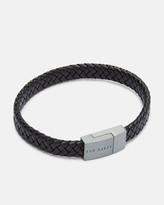 Ted Baker Woven Leather Bracelet Black