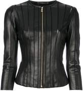 Versace panelled fitted jacket