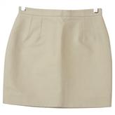 Balenciaga Ecru Cotton Skirt
