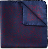 Whistles Leaf Print Silk Pocket Square