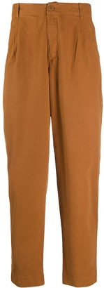 Folk Pleated Tapered Leg Trousers