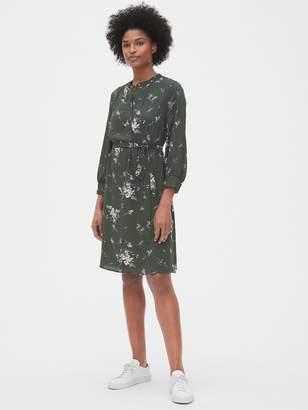 Gap Floral Print Shirtdress