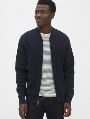 Gap Textured Full-Zip Bomber Sweater