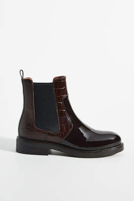 Jeffrey Campbell Patent Leather Chelsea Boots