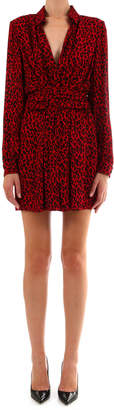 Saint Laurent Belted Chemise Dress Leopard Print