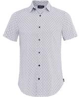 Slim Fit Viscose Short Sleeve Shirt