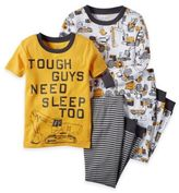 Carter's Size 18M 4-Piece Construction Pajama Set in Yellow