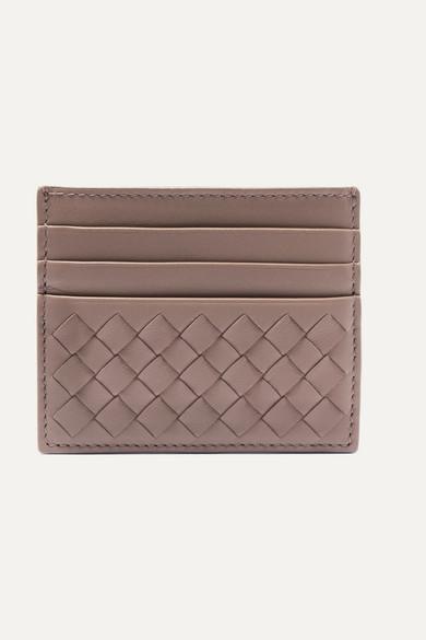 Bottega Veneta Intrecciato Leather Cardholder - Gray