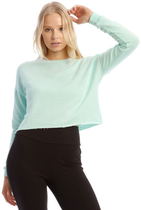 Miss Shop Terry Back Crop Sweat Top