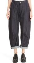 Women's Y's By Yohji Yamamoto U-Wide Gusset Crop Jeans