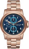 Michael Kors Men's Chronograph Paxton Rose Gold-Tone Stainless Steel Bracelet Watch 44mm MK8550